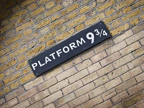 train platform sign