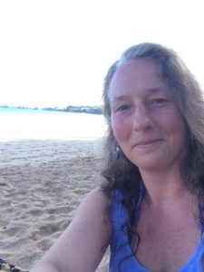 Sylvia Maes, BMC practitioner, by the ocean